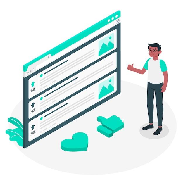 Ilustración del concepto de apoyar vector gratuito