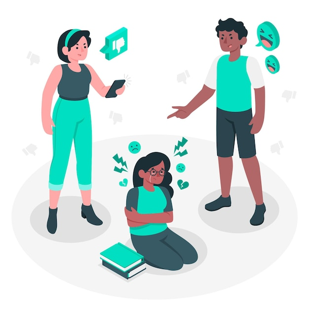 Ilustración del concepto de bullying vector gratuito