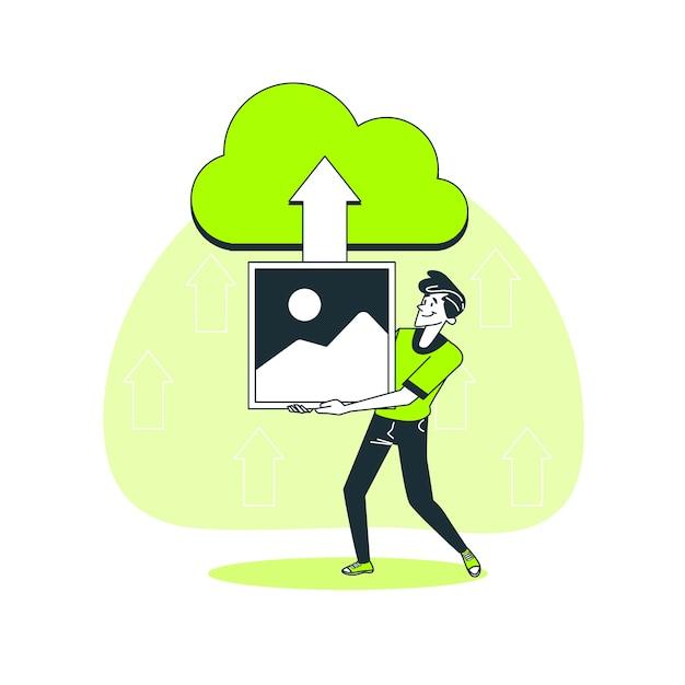 Ilustración del concepto de carga de imagen vector gratuito