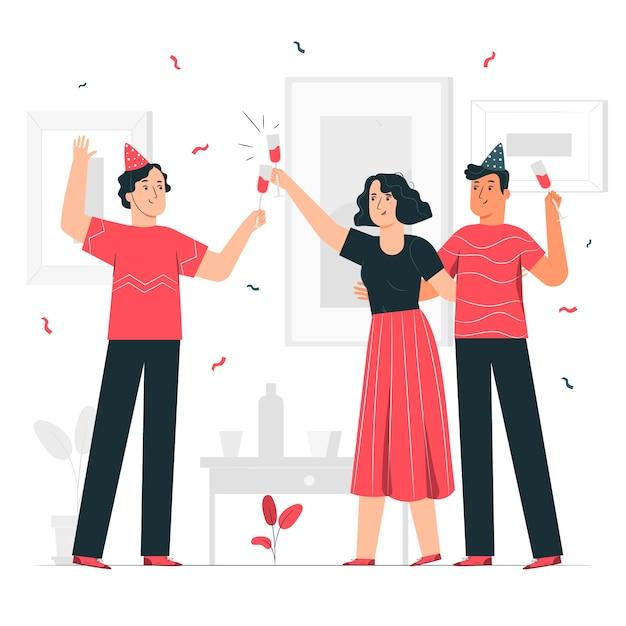 Ilustración de concepto celebración vector gratuito