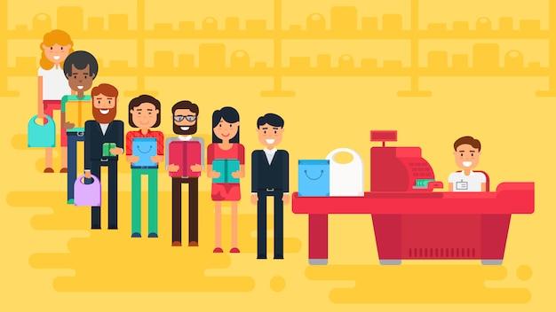 Ilustración del concepto de compras Vector Premium