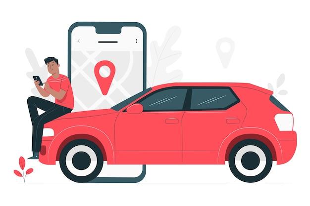 Ilustración del concepto de conductor de ciudad vector gratuito