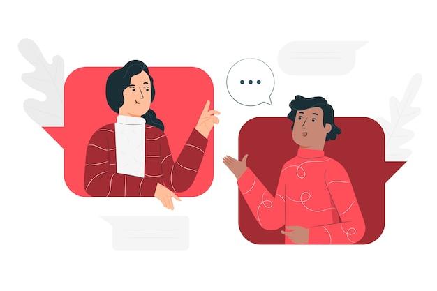 Ilustración del concepto de conversación vector gratuito