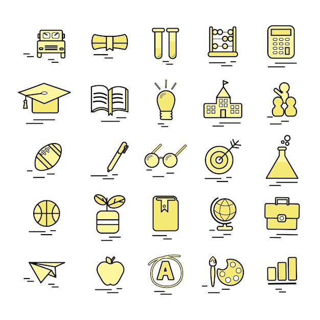 Ilustración del concepto de educación vector gratuito