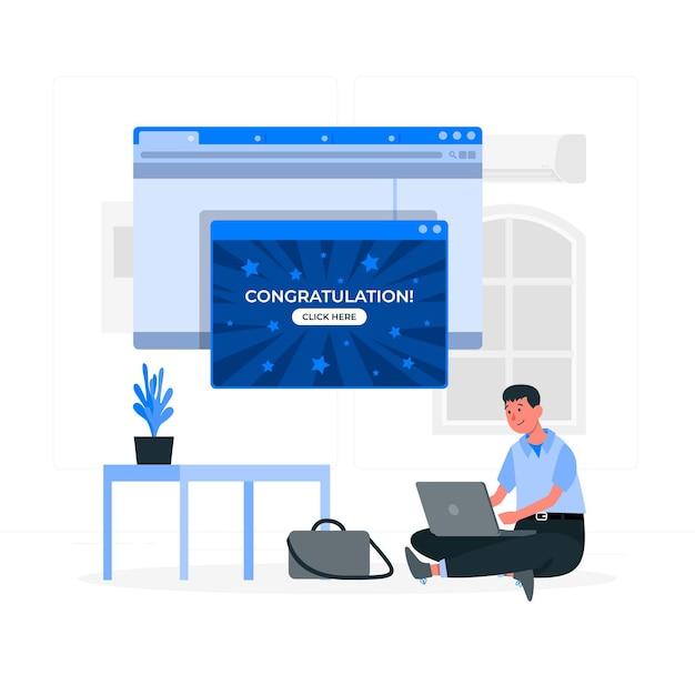 Ilustración del concepto emergente vector gratuito