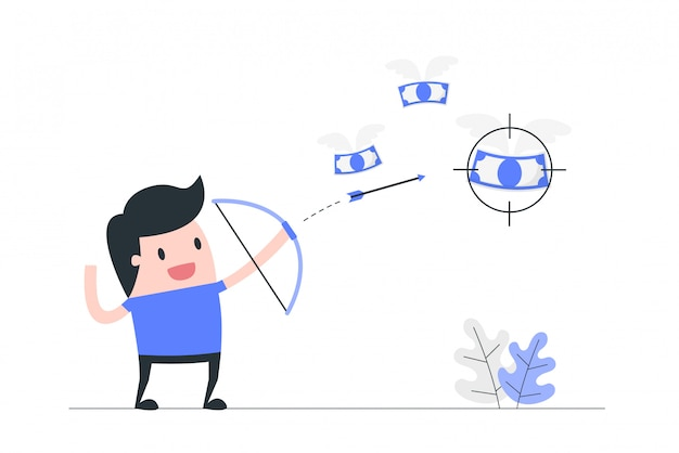 Ilustración del concepto de enfoque. Vector Premium