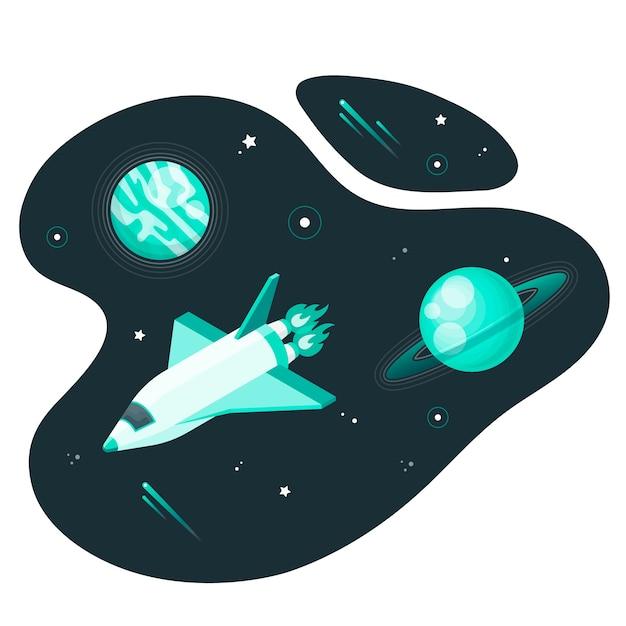 Ilustración de concepto de espacio exterior vector gratuito
