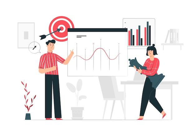 Ilustración de concepto de estrategia de redes sociales vector gratuito
