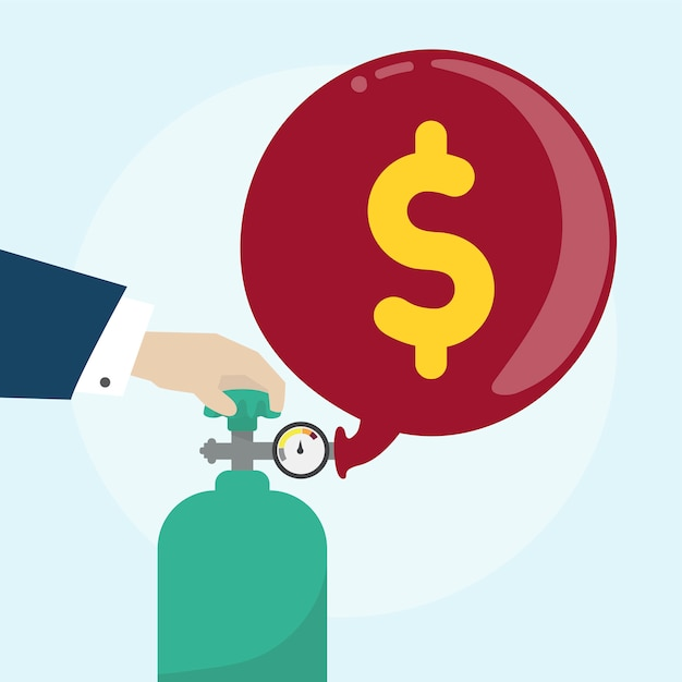 Ilustración del concepto financiero vector gratuito