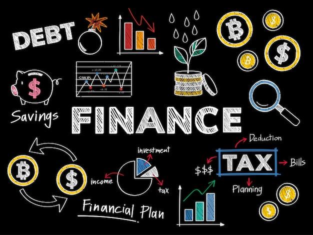 Ilustración de concepto de finanzas y rendimiento financiero vector gratuito