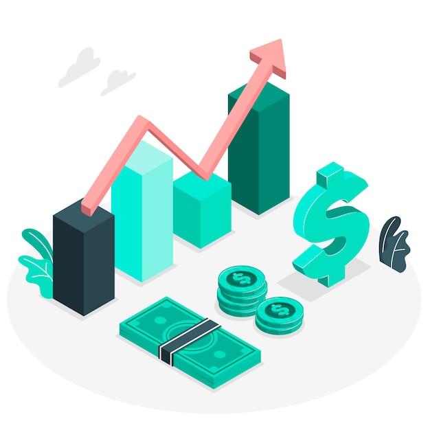 Ilustración de concepto finanzas vector gratuito