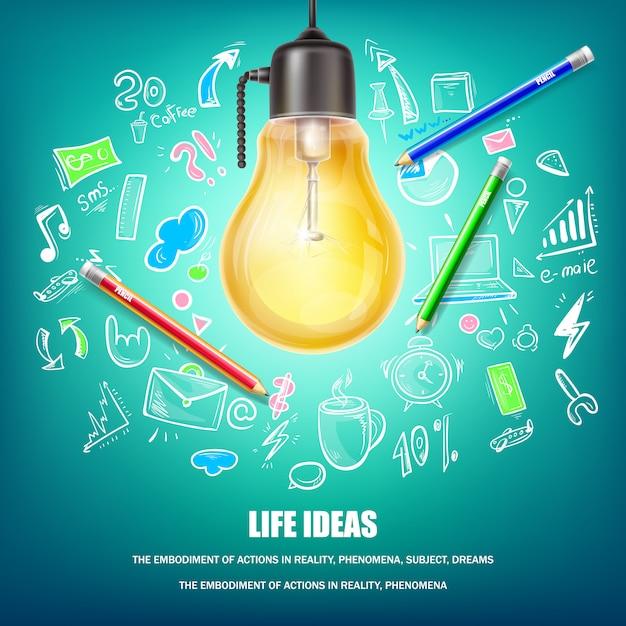 Ilustración del concepto de ideas creativas vector gratuito