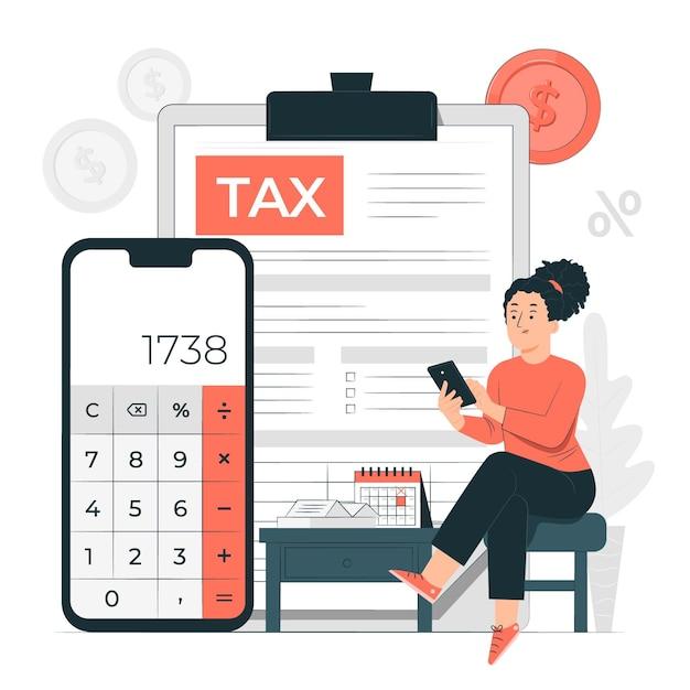 Ilustración del concepto de impuestos vector gratuito