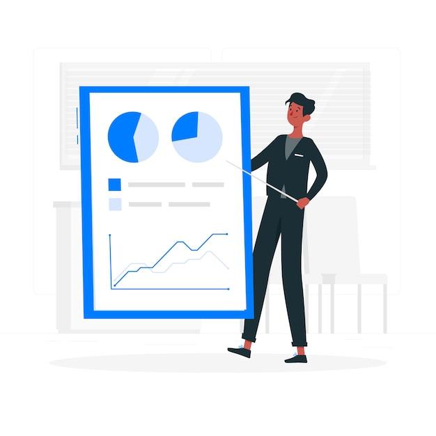 Ilustración del concepto de informe vector gratuito