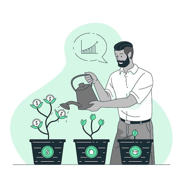 Ilustración del concepto de inversión vector gratuito