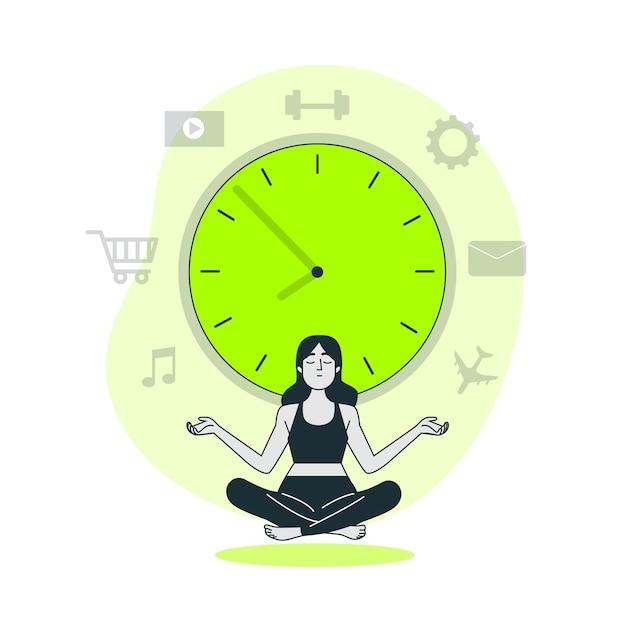 Ilustración del concepto de manejo del tiempo vector gratuito