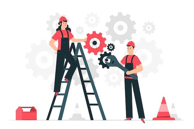 Ilustración de concepto de mantenimiento vector gratuito