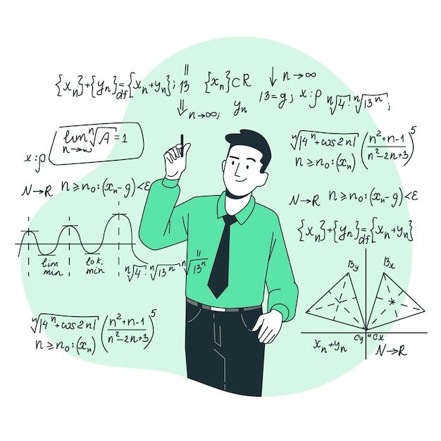 Ilustración del concepto de matemáticas vector gratuito
