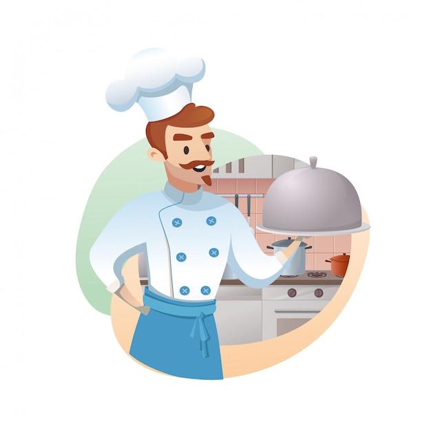 Ilustración del concepto del negocio de restaurante Vector Premium