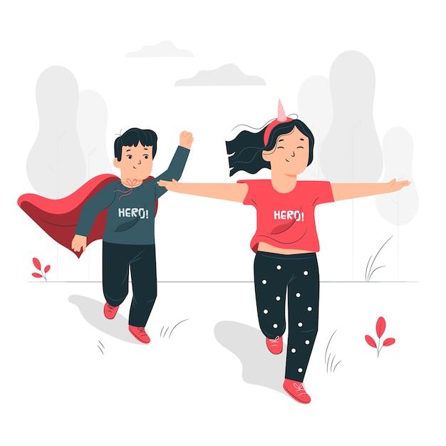 Ilustración del concepto de niños vector gratuito