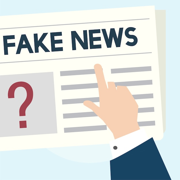 Ilustración del concepto de noticias falsas vector gratuito
