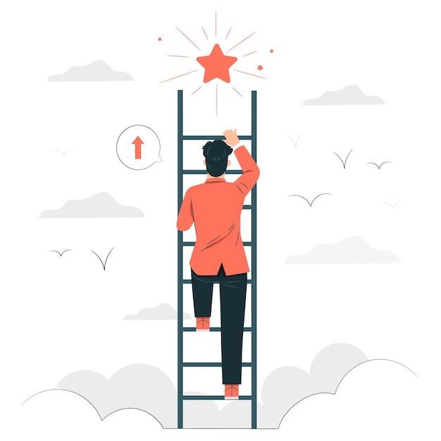 Ilustración del concepto de objetivos personales vector gratuito