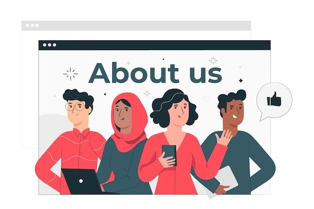 Ilustración del concepto de página sobre quiénes somos vector gratuito