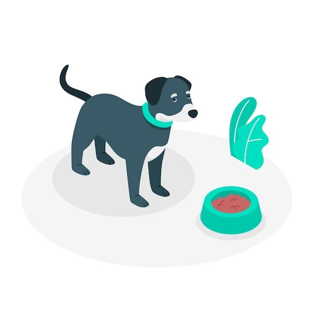 Ilustración de concepto de perro cauteloso vector gratuito