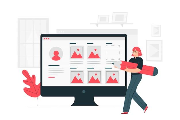 Ilustración del concepto de portfolio vector gratuito