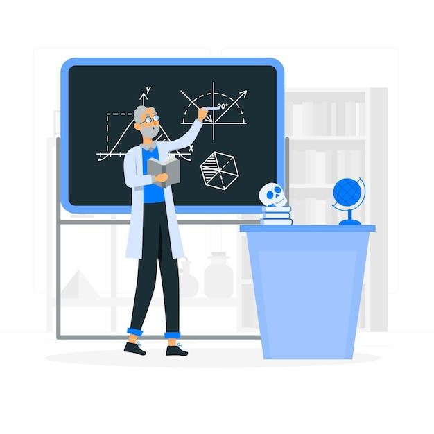 Ilustración del concepto de profesor vector gratuito