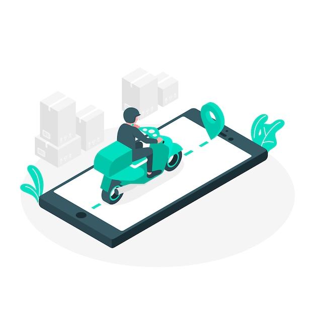 Ilustración del concepto reparto vector gratuito
