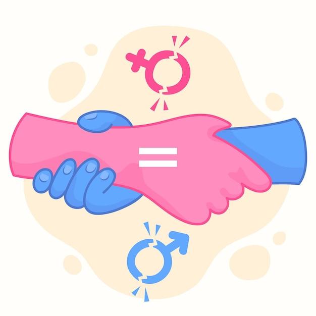 Ilustración del concepto de romper las normas de género vector gratuito