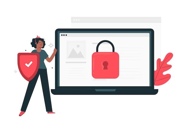 Ilustración del concepto seguro vector gratuito