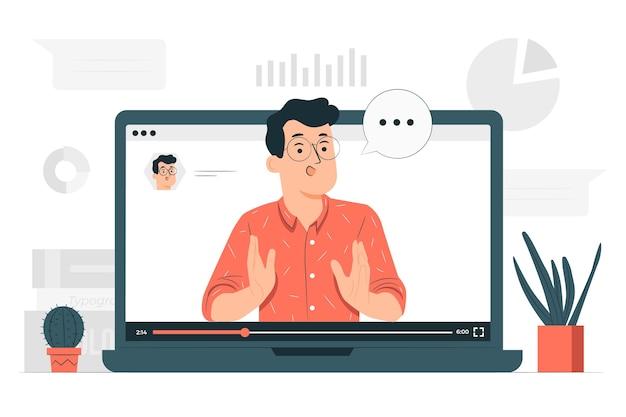 Ilustración del concepto de seminario web vector gratuito
