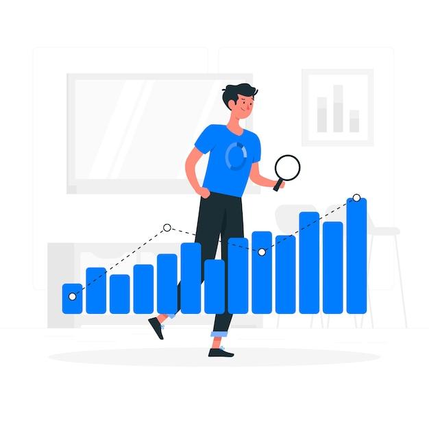 Ilustración del concepto de tendencias de datos vector gratuito