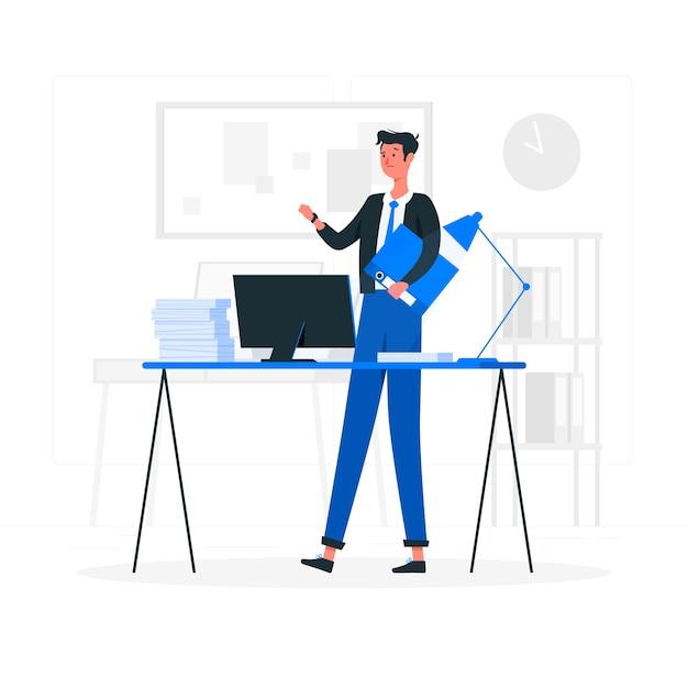 Ilustración del concepto de trabajar tarde vector gratuito