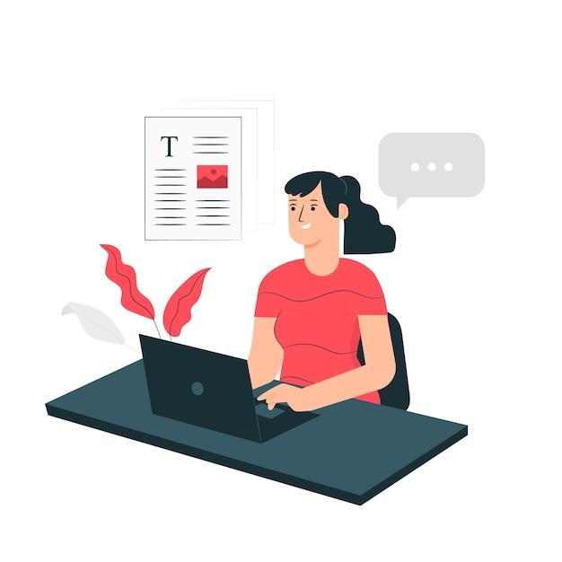Ilustración del concepto de trabajo vector gratuito