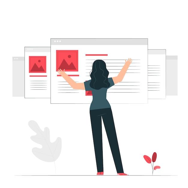 Ilustración del concepto de windows vector gratuito