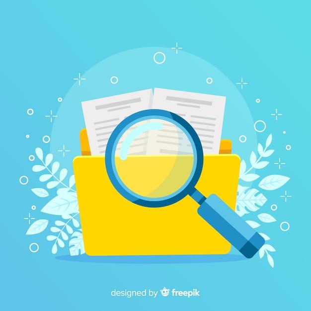 Ilustración conceptual búsqueda de archivos vector gratuito