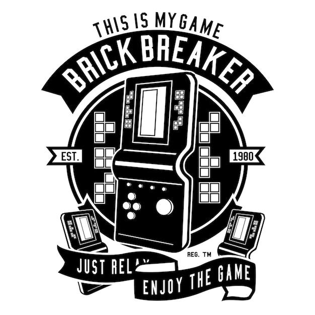 Ilustracion De La Consola De Juegos Tetris Descargar Vectores Premium
