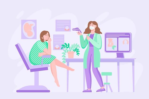 Ilustración de consulta de ginecología vector gratuito