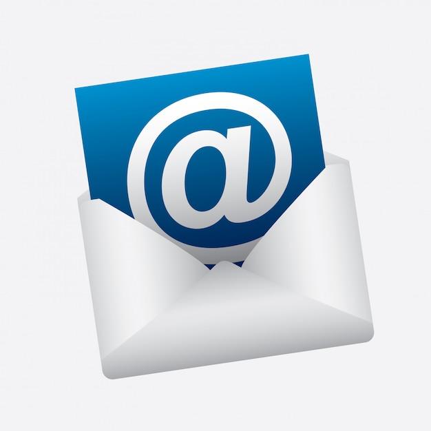 Ilustración de correo vector gratuito