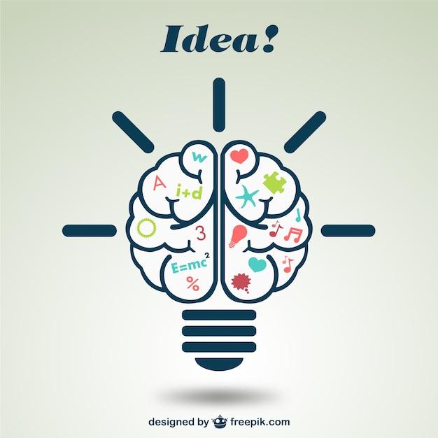 Ilustración creativa de cerebro | Descargar Vectores gratis
