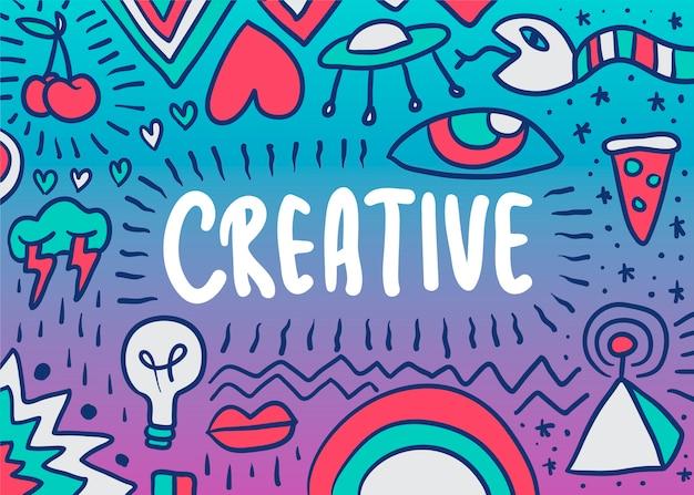 Ilustración creativa doodle vector gratuito