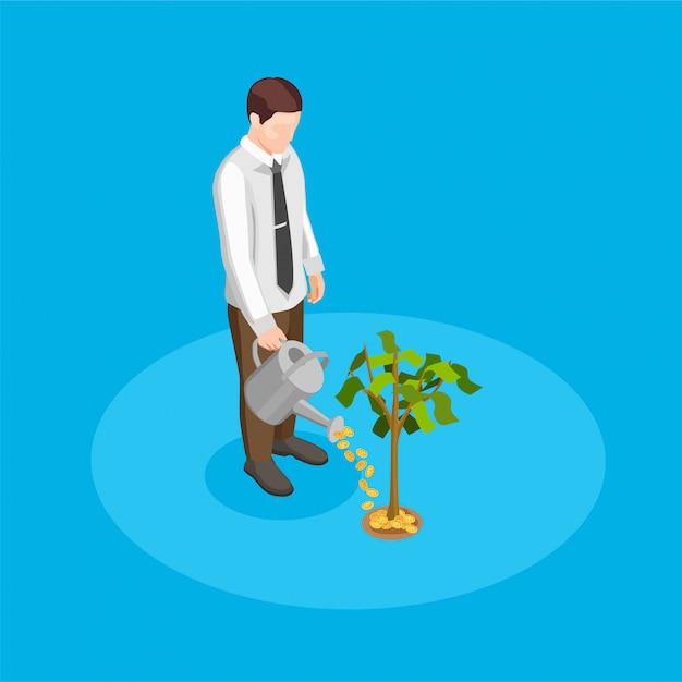 Ilustración de crowdfunding vector gratuito