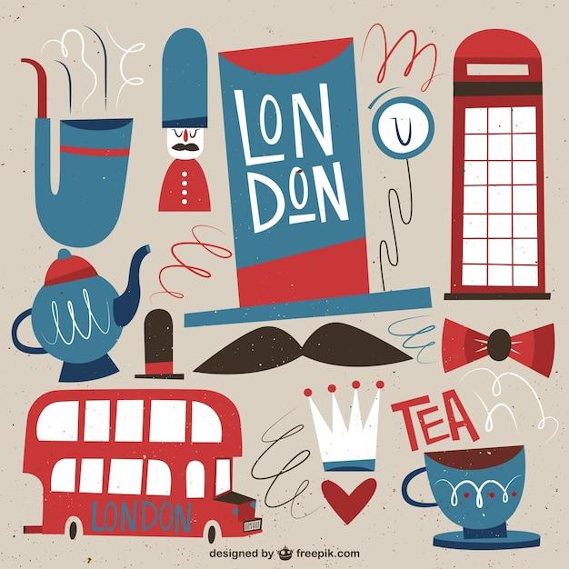 Ilustración de cultura londinense vector gratuito