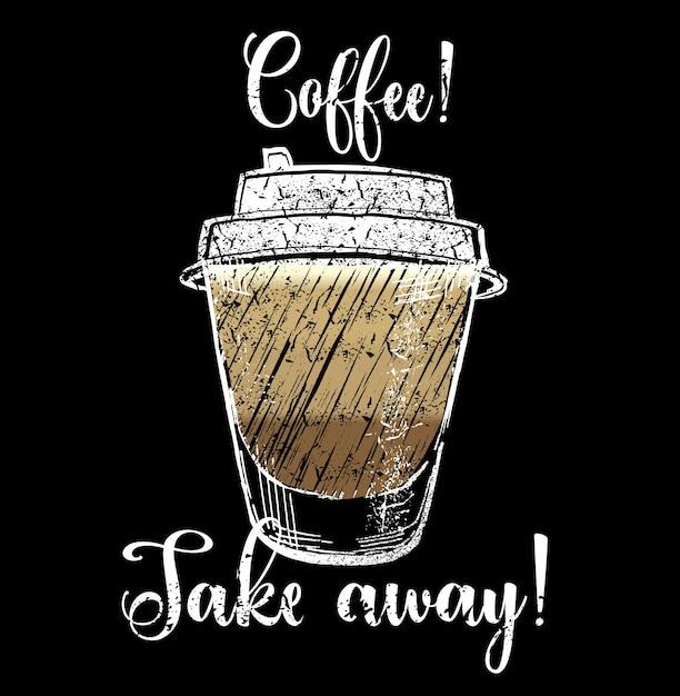 Ilustraci n de caf para llevar descargar vectores gratis for Cafe para llevar