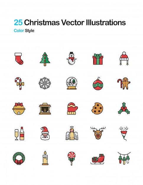 Ilustración de color de navidad | Descargar Vectores Premium