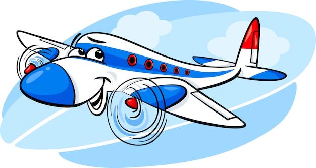 Ilustración de dibujos animados avión aire