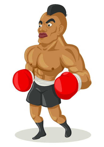 Ilustración de dibujos animados de un boxeador | Descargar Vectores ...